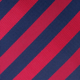 Canterbury Red & Navy Blue Striped Pocket Square
