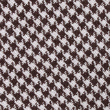 Cappuccino Houndstooth Brown Linen Fabric Mens Bow Tie