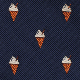 Cappuccino Ice Cream Cone Bow Tie