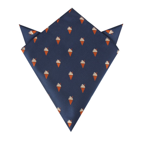 Cappuccino Ice Cream Cone Pocket Square