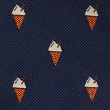 Cappuccino Ice Cream Cone Self Bow Tie Fabric