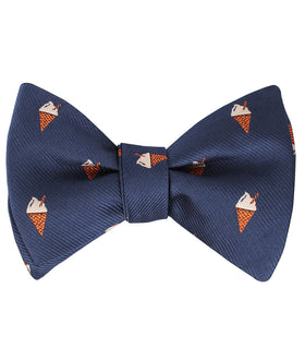 Cappuccino Ice Cream Cone Self Bow Tie