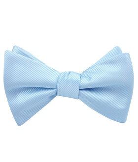 Capri Blue Twill Self Bow Tie
