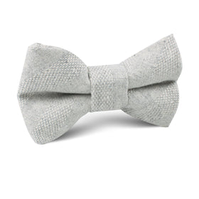 Capri Grey Tweed Striped Linen Kids Bow Tie
