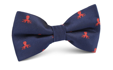 Caribbean Coral Octopus Bow Tie