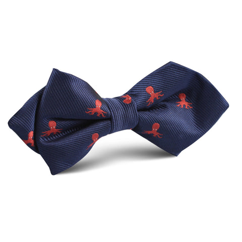 Caribbean Coral Octopus Diamond Bow Tie