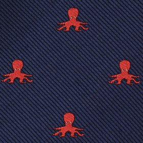Caribbean Coral Octopus Kids Bow Tie