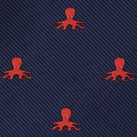 Caribbean Coral Octopus Pocket Square