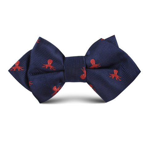 Caribbean Coral Octopus Kids Diamond Bow Tie