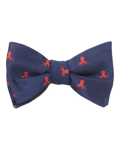 Caribbean Coral Octopus Self Bow Tie