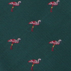 Caribbean Royal Green Flamingo Bow Tie