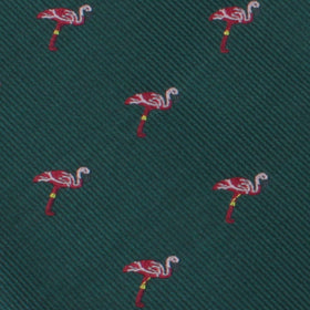 Caribbean Royal Green Flamingo Pocket Square