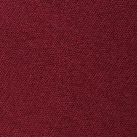 Carmine Burgundy Linen Pocket Square