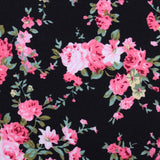 Carnation Floral Pink Fabric Pocket Square