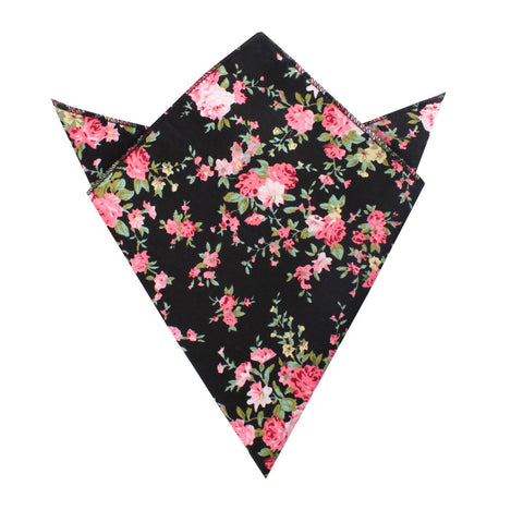 Carnation Floral Pink Pocket Square