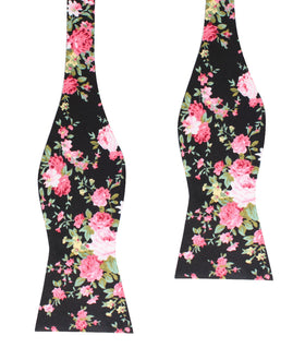 Carnation Floral Pink Self Bow Tie