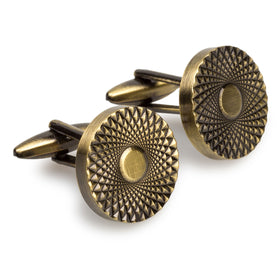 Casino Royale Antique Brass Cufflinks