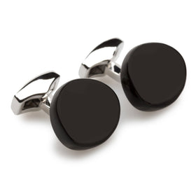 Cauldron Matte Black Stone Cufflinks