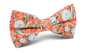 Cayman Island Floral Bow Tie