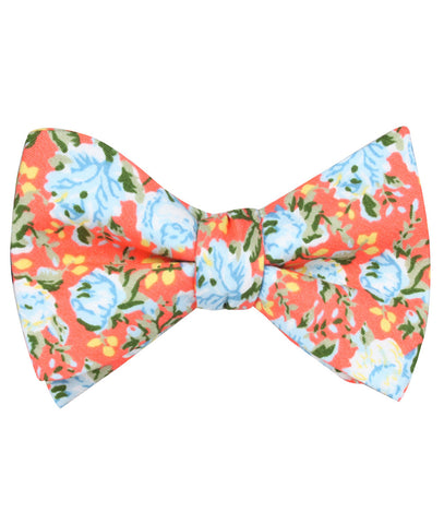 Cayman Island Floral Self Bow Tie