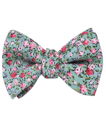 Centifolia Floral Roses Self Bow Tie