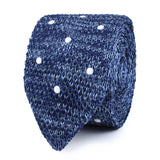 Cerulean White Polka Dot Knitted Tie