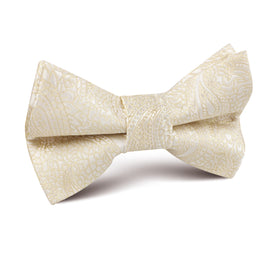 Champagne Desert Paisley Kids Bow Tie
