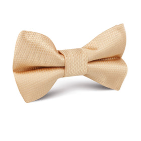 Champagne Gold Basket Weave Kids Bow Tie