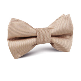 Champagne Gold Metallic Weave Kids Bow Tie