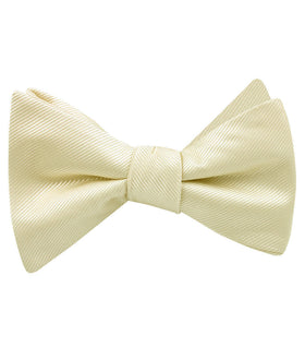 Champagne Twill Self Bow Tie