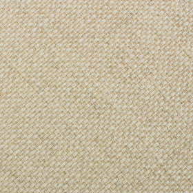 Champagne Basket Weave Linen Pocket Square
