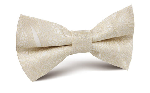 Champagne Desert Paisley Bow Tie