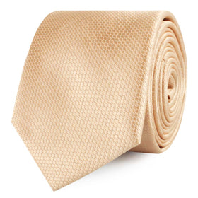 Champagne Gold Basket Weave Skinny Tie