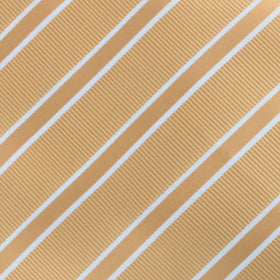 Champagne Gold Double Stripe Bow Tie