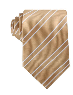 Champagne Gold Double Stripe Necktie
