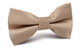 Champagne Gold Metallic Weave Bow Tie