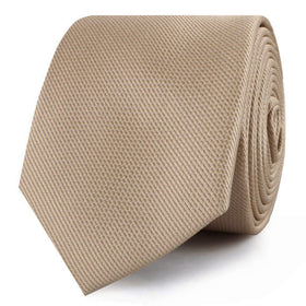 Champagne Gold Metallic Weave Skinny Tie