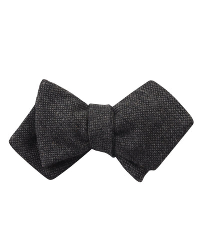 Charcoal Donegal Diamond Self Bow Tie