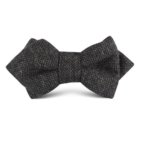 Charcoal Donegal Kids Diamond Bow Tie