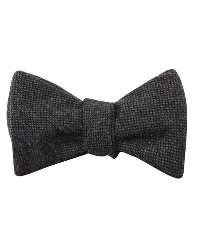Charcoal Donegal Self Bow Tie