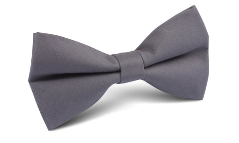 Charcoal Grey Cotton Bow Tie