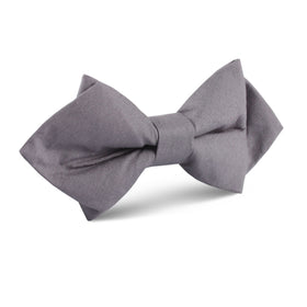 Charcoal Grey Cotton Diamond Bow Tie