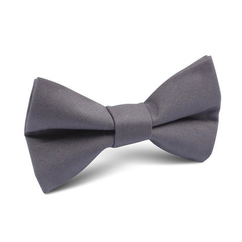 Charcoal Grey Cotton Kids Bow Tie