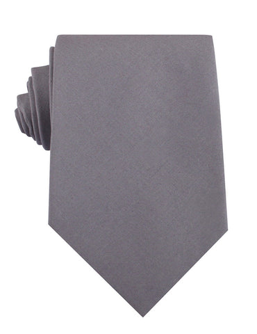 Charcoal Grey Cotton Necktie