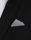 Charcoal Grey Cotton Oxygen Three Point Pocket Square Fold