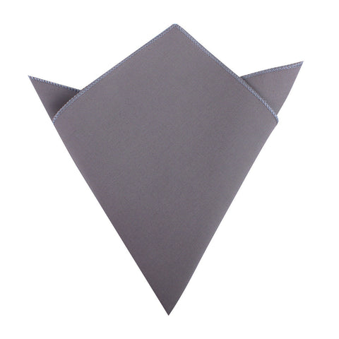 Charcoal Grey Cotton Pocket Square