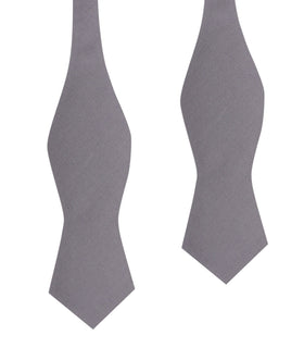 Charcoal Grey Cotton Self Tie Diamond Tip Bow Tie