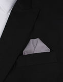 Charcoal Grey Cotton Winged Puff Pocket Square Fold