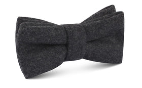Charcoal Grey Dorset Wool Bow Tie