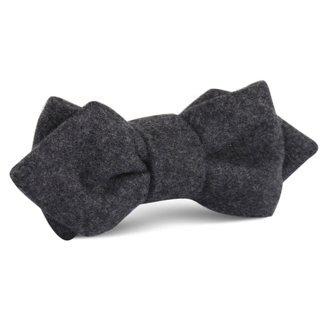 Charcoal Grey Dorset Wool Diamond Bow Tie